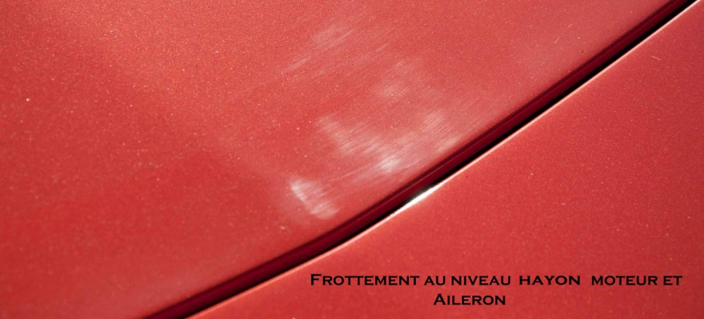 Frottement hayon aileron