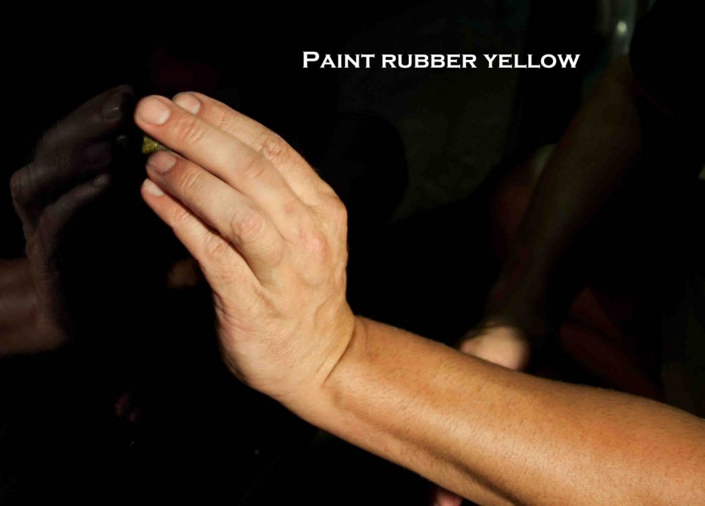 paint rubber yellow